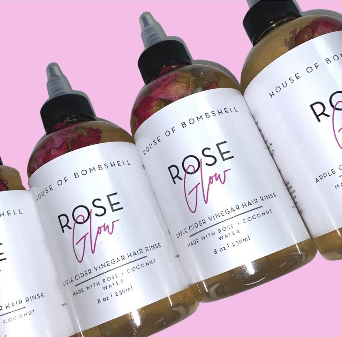 House of Bombshell Rose Glow Rinse