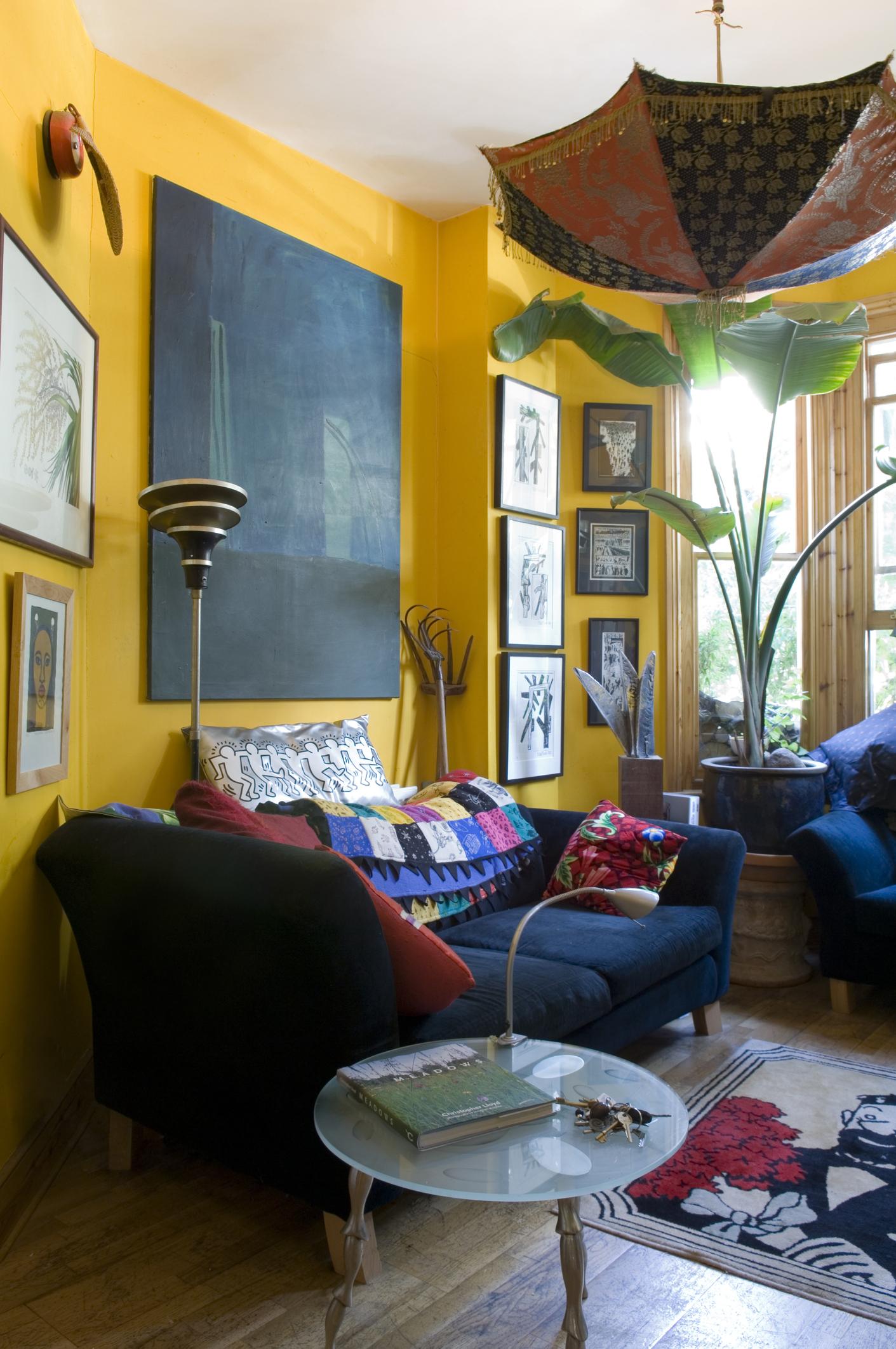 Colourful flat of London garden designer