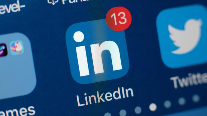 LinkedIn App Icon on smartphone screen