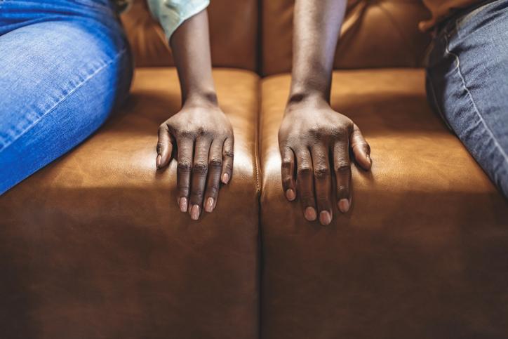 Black married couple spouses quarreled