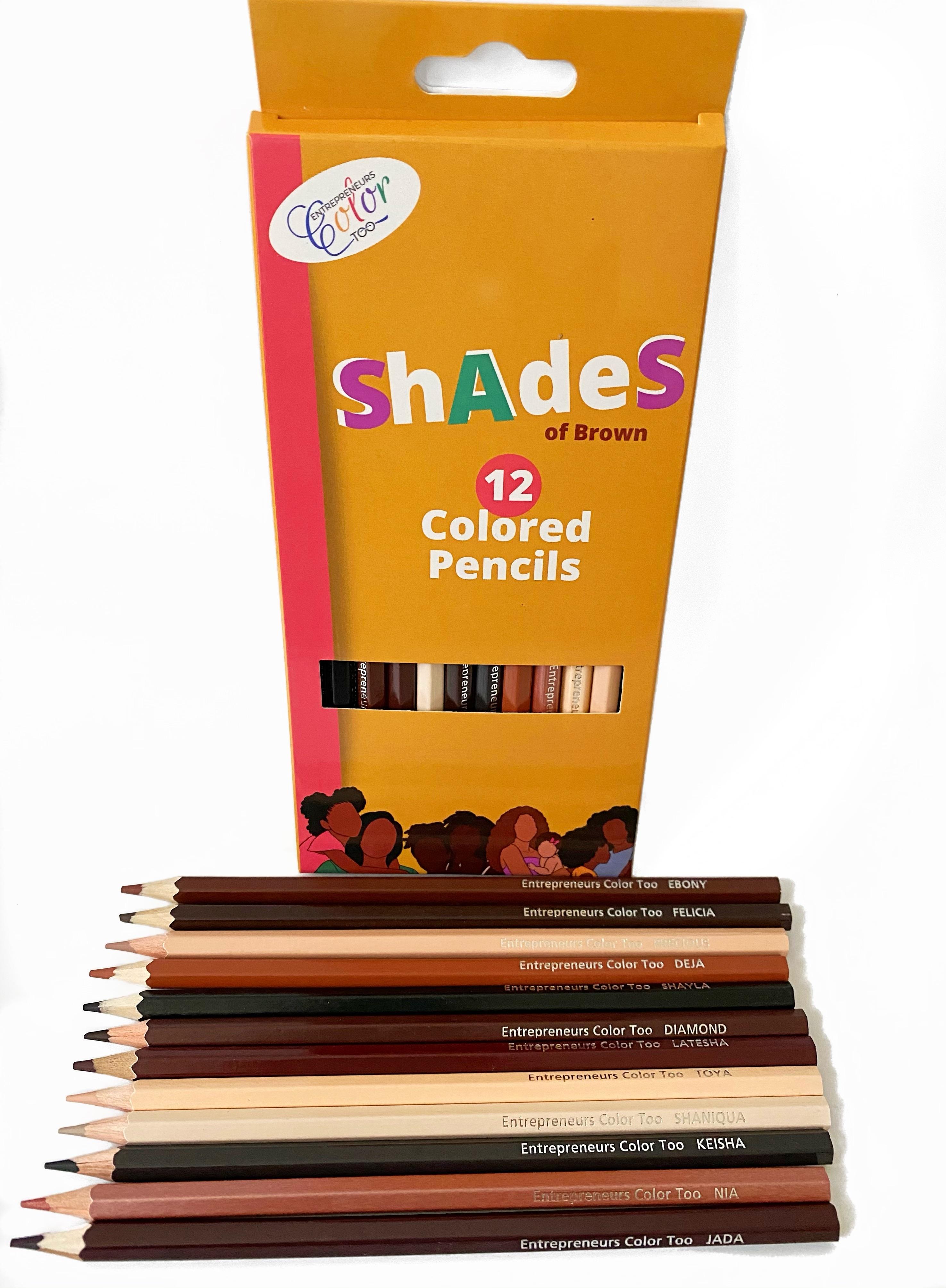 Latoya Nicole's Shades of Brown Coloring Pencils
