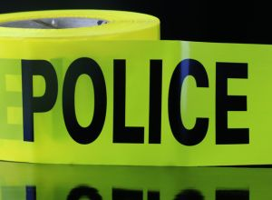 Police use crime scene barricade tape