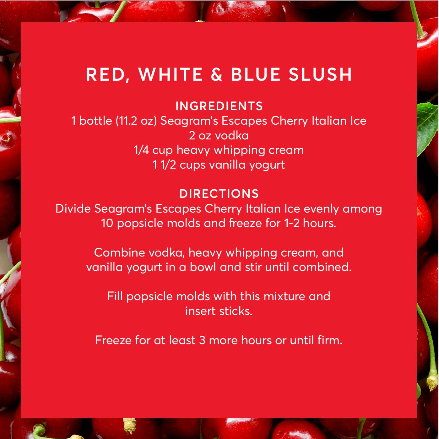 red white and blue slush recipe