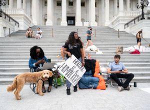 Cori Bush at the Eviction Moratorium