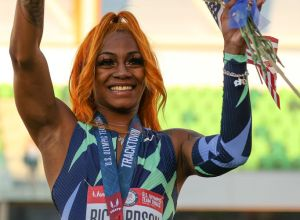 Sha'Carri Richardson at the 2020 U.S. Olympic Track & Field Team Trials - Day 2