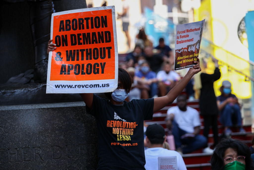 Protest at Times Square as Texas bans abortion