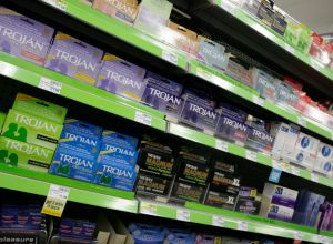 Male contraceptives for sale at CVS Pharmacy