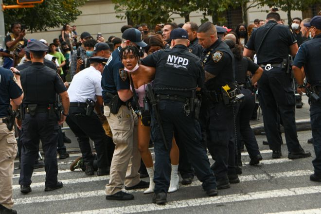 Black Lives Matters Protesters Arrested Outside Met Gala