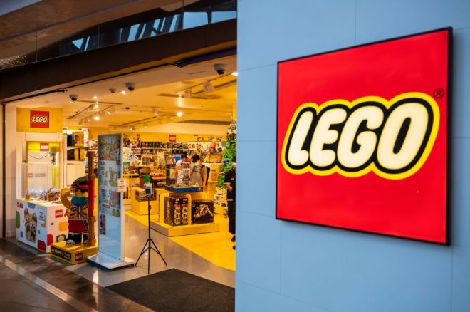 Danish toy brand Lego official store seen in Hong Kong...