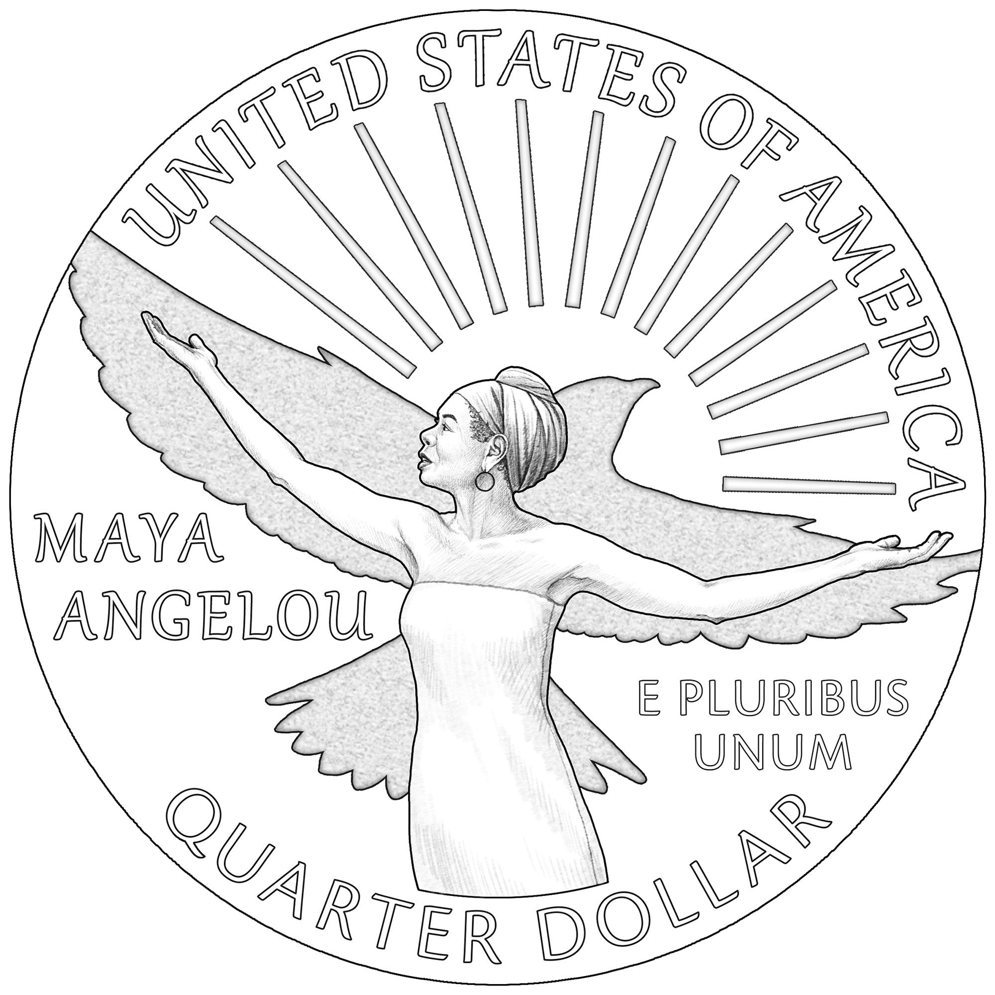 maya angelou us mint quarter